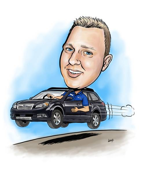 Caricature of Trent