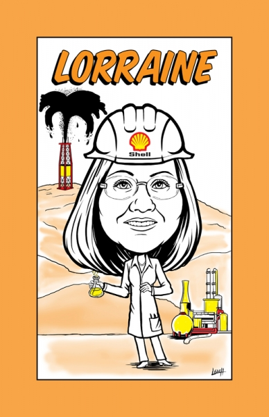 Caricature for Shell Oil Company