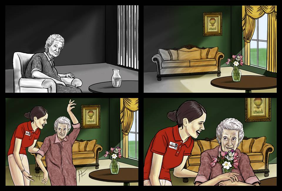 Professional Caretakers Storyboard